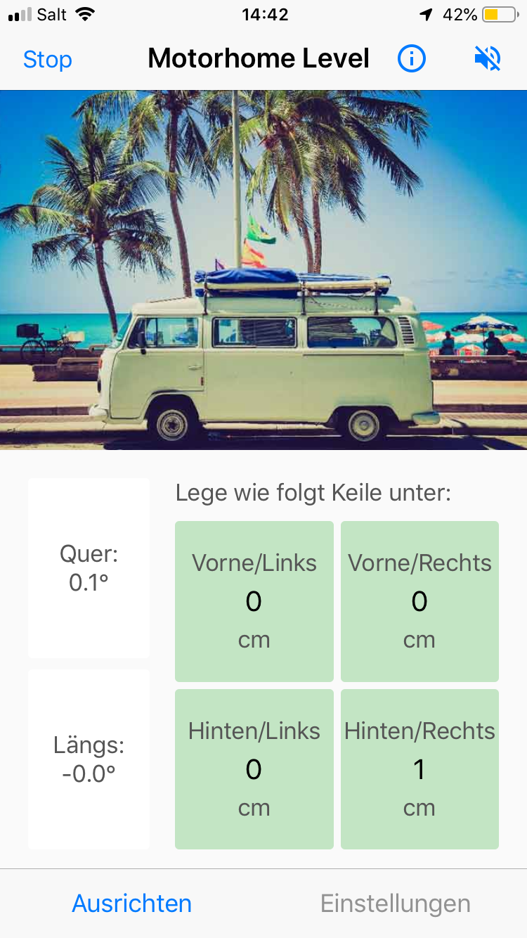 Screenshot des App-Bildschirms