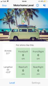 Screenshot of app levelling