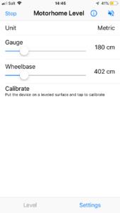 Screenshot of the app settings